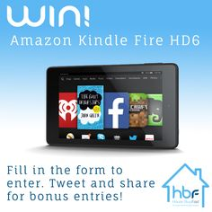 Open to: Other Location Ending on: 02/05/2015 You could be the lucky winner of a brand new Amazon Kindle Fire HD6 Tablet, all you have to do is fill out the form! Bonus Tip: Tweet using the button for 5 extra chances to win! Plus if someone enters using your link, you'll get another 5 …