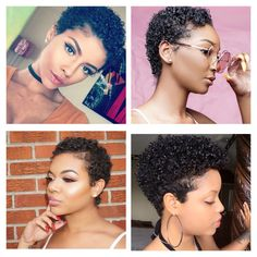 Big chop styles I love!! *I do not own these photos!                                                                                                                                                                                 More