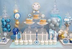 Hanukkah Party Table | #hanukkah #chanukkah #food #desser #holiday #party