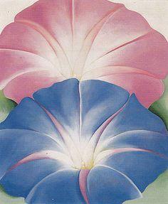 Georgia O'Keeffe Blue Morning Glories New Mexico 1935
