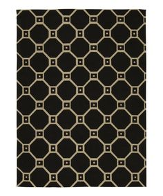 Take a look at this Waverly Black & Cream Color Motion Jute Rug on zulily today!