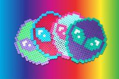 8-Bit 90s Grunge Neon Pastel Pixel Alien Coaster Set by FatBats