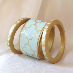 Green cuff statement bracelet -Chauci Charvet