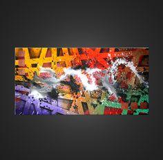 Tableau coloré abstrait Rust #tableau #abstrait #contemporain #art #peinture