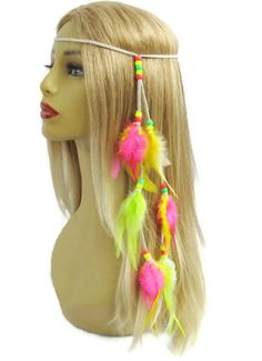 Items similar to Candy hippie neon feather and leather headband edc bonnaroo festival hat band women hair accessories on Etsy Neon Accessories, Hair Accessories For Women, Leather Headbands, Festival Fashion, Edm, Diy Clothes, Rave, Wigs, Halloween Costumes