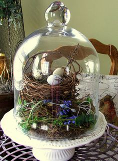 Springtime under glass. from the beautiful blog http://nominimalisthere.blogspot.com/