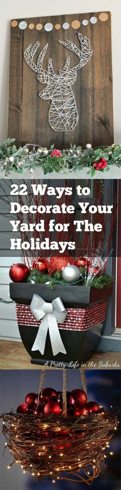 Yard Decorations, Holiday Yard Decorations, Holiday Decor, Popular Pin, Christma… – The Best DIY Outdoor Christmas Decor Christmas Decor Diy Cheap, Christmas Decorations For The Home, Christmas Diy, Holiday Decor, Christmas Garden, Christmas Projects, Holiday Fun, Holiday Ideas, Diy Yard Decor