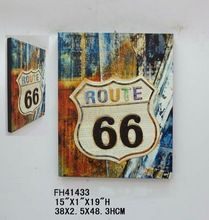 Vintage Metal Embossed Home Decorative Hanging 66 Route Wall Sign