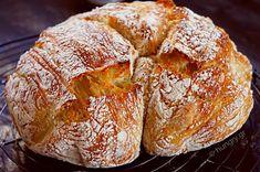 Σπιτικό Ψωμί χωρίς Ζύμωμα Bread Appetizers, Homemade Buttermilk, No Knead Bread, Bread Bun, Bread And Pastries, Greek Recipes, No Bake Cake, Cooking Time, Bakery