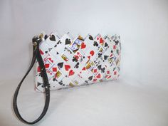 Ladies recycled playing card clutch. Perfect gift for that card lover. www.playfulme.com