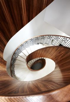 Staircase in Dawson Place by Peter Mikic Interiors on House Staircase, Interior Staircase, Stair Steps, Stair Railing, Railings, Famous Interior Designers, Best Interior Design, Victorian Townhouse, Hall Design