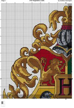 The Hogwarts Crest Cross Stitch Chart PDF available here :) Free Cross Stitch Charts, Cross Stitch Bookmarks, Cross Stitching, Cross Stitch Embroidery, Embroidery Patterns, Cross Stitch Designs, Cross Stitch Patterns, Harry Potter Cross Stitch Pattern, Harry Potter Crochet