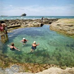 outdoor pool among best in Britain Polperro Beach Tidal Rockpool Cornwall Places To Travel, Places To See, Cornwall Beaches, Holidays In Cornwall, Visit Uk, Into The West, Uk Holidays, Destination Voyage, Rock Pools