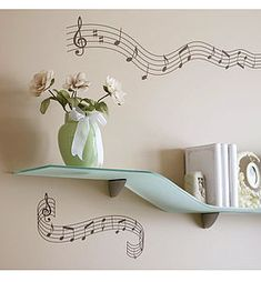 Crotchets And Quavers Wall Stickers - wall stickers