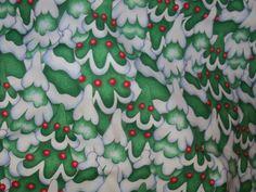 Holiday Express,Christmas Tree Fabric,So Cute,1 Yard,South Seas by susiesfabrics on Etsy