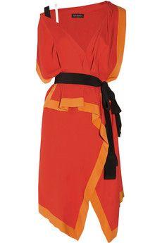 VIONNET  One-shoulder stretch-crepe dress