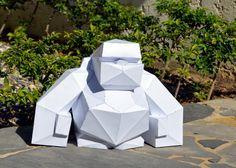 Make Your Own Gorrila Sculpture | Papercraft Gorilla | Wild Animal | King Kong | Papercraft Animal | Paper Gorilla | Kids Toy | Kids Decor | by PlainPapyrus on Etsy