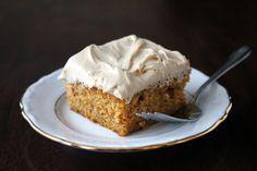 pumpkin sheet cake with brown sugar cream cheese frosting