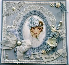 De kaarten van ons Mam Altered Canvas, Shabby Chic Cards, Fru Fru, Beautiful Handmade Cards, Vintage Birthday, Some Cards, Mothers Day Cards, Card Tags, Flower Cards