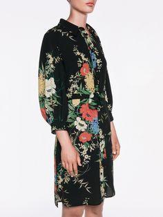 Forest Flowers Shirt Dress