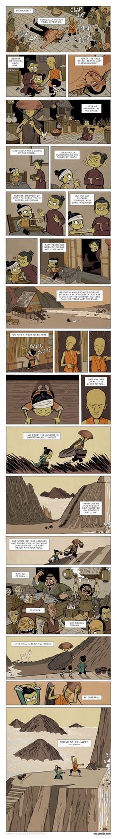 This Zen Comic Is Full of Timeless Life Lessons Desiderata poem by Max Ehrmann beautifully illustrated by Gavin Aung Than