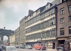 View of Bessie Surtees House, Sandhill, Newcastle upon Tyne, April 1958 (TWAM ref. DT.TUR/4/976/4). From Tyne & Wear Archives