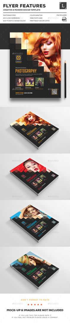 Pixel Photography Flyer - Flyers Print Templates