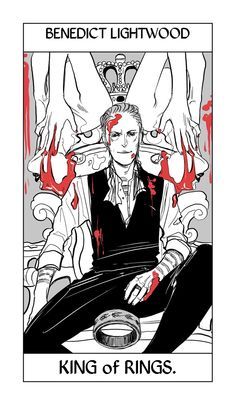 Shadowhunter Tarot Cards, Benedict Lightwood ; art by Cassandra Jean