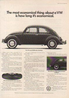 1966 VW Volkswagen Beetle Bug Most Economical