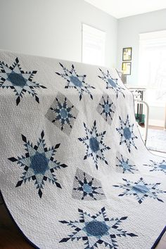 The ins/outs of my longarm quilting business — Threaded Quilting Studio Star Quilt Blocks, Star Quilt Patterns, Paper Piecing Patterns, Star Quilts, Canvas Patterns, Nancy Zieman, Snowflake Quilt, Snowflakes, History Of Quilting