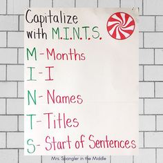 This is one of the anchor charts I have around my room for my middle school students to use when analyzing mentor sentences. It's an oldie but goodie! 8th Grade Ela, Second Grade, Mentor Sentences, Word Work Activities, Middle School Classroom, Middle School English, Writing Practice, Anchor Charts, Teaching English