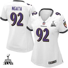 Baltimore Ravens http://#92 Haloti Ngata NIKE White With Super Bowl Patch Womens Game NFL Jersey$69.99