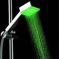 LED Green Color square corner shower caddy ABS plastic without color box