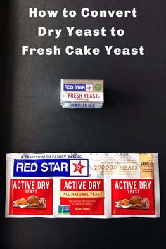 How to convert dry yeast to fresh cake yeast Vegan Baking, Bread Baking, Fresh Yeast Recipe, Fresco, Jiffy Cornbread Recipes, Yeast Packet, Rock Crock Recipes, No Yeast Bread, Biscuit Sandwich