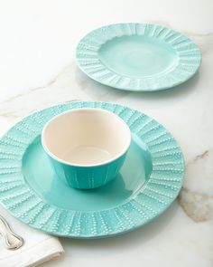12-Piece Seaside Dinnerware Service Blue & Lulu DK 12-Piece \