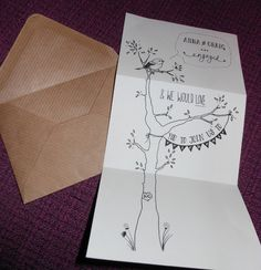 Our engagement invitations.