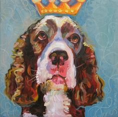 Bosco the English Springer Spaniel by genasemenov on Etsy, $20.00