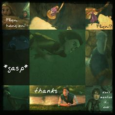The Adventures of the Big Four: Page 42  by 1JoyDreamer.deviantart.com on @deviantART Rapunzel is able to swing to safty, but Flyn gets swept away. Luckily for him, Hiccup is a decent swimmer and comes to his rescue.