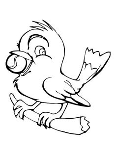 Canary Bird Standing On Tree Branches Image From Httpwww - Coloring Page Ideas Bird Coloring Pages, Coloring Pages For Kids, Coloring Sheets, Canary Birds, Bird Stand, Online Coloring, Have Some Fun, Tree Branches, Phase 4