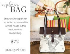 The Explorer Bag!      Ending poverty with our accessories and Trades of Hope! #tradesofhope #endpoverty #empoweringwomen #sustainablebusinesses #fairtrade