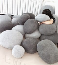 I found these rock pillows among the new trending items on Etsy. They are offered by...