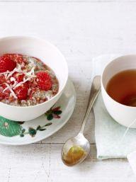 Chai-Raspberry Chia Seed Pudding | KitchenDaily.com