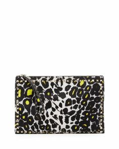 Studded Zip Pouch, Leopard by Valentino at Neiman Marcus.