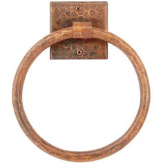 7-inch Hand-hammered Copper Towel Ring - Ostock. $61.00