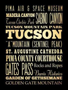 Places to see when visiting Tucson, Az.