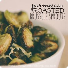 Parmesan Roasted Brussels Sprouts | Delicious Brussels Sprouts Recipe | Easy Vegetarian Recipes