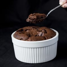 This Easy Chocolate Soufflé will make any chocolate lover swoon! Making soufflés doesn't have to be impossibly hard. You just need a good set of instructions!