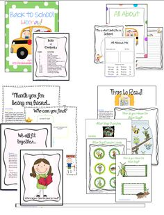 Back to School Activities Packet K-3 Follow: Brigid's Daily Lesson Log