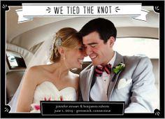Folk Banner Wedding Announcement | Shutterfly.com