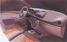 OG | 2005 Renault Clio Mk3 - X85 | Interior design sketch
